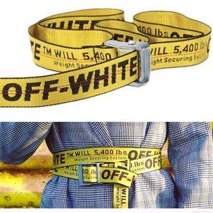 Off white fashion belt